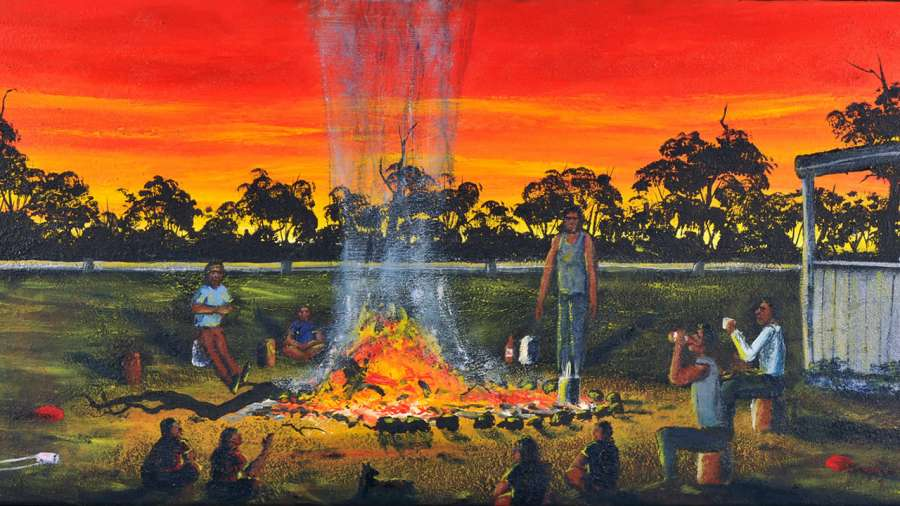 """Fire on the Pingelly Reserve"" (detail) Troy Benell"